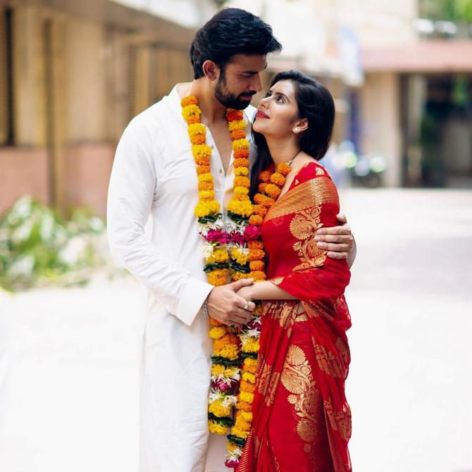 Charu Asopa and Rajeev Sen look stunning in their engagement photos