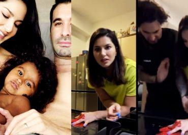 Sunny Leone Plays A Smart Prank On Hubby Daniel Weber; Unimpressed, He Rates It A ZERO- Watch Video