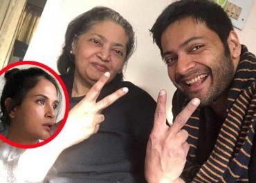 Ali Fazal mother and Richa Chadha