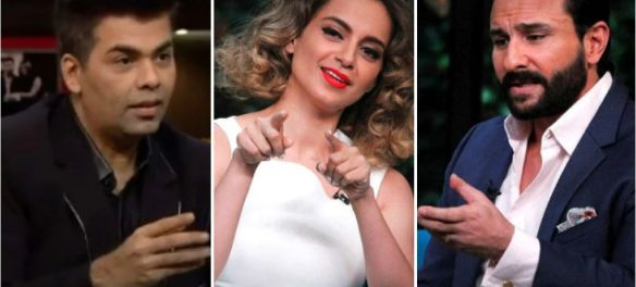 Kangana Ranaut and Saif Ali Khan on Koffee With Karan