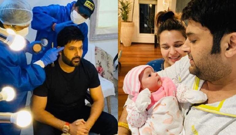 Kapil Sharma with his daughter Anayra