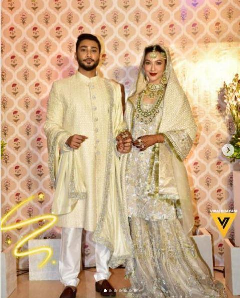 Gauahar Khan and Zaid Darbar wedding picture
